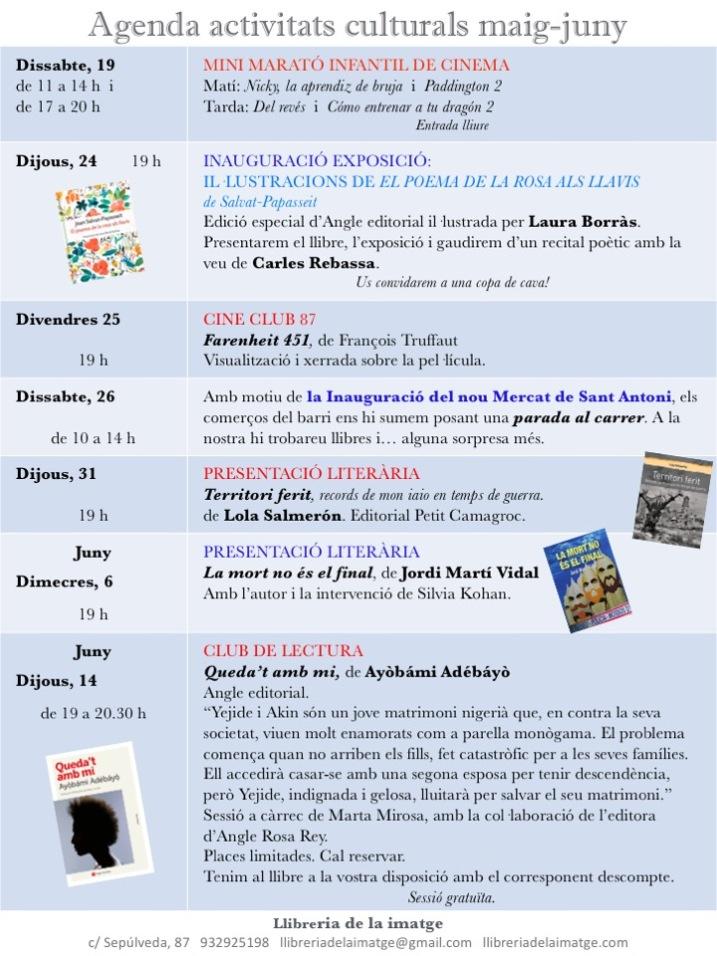 Agenda maig-juny