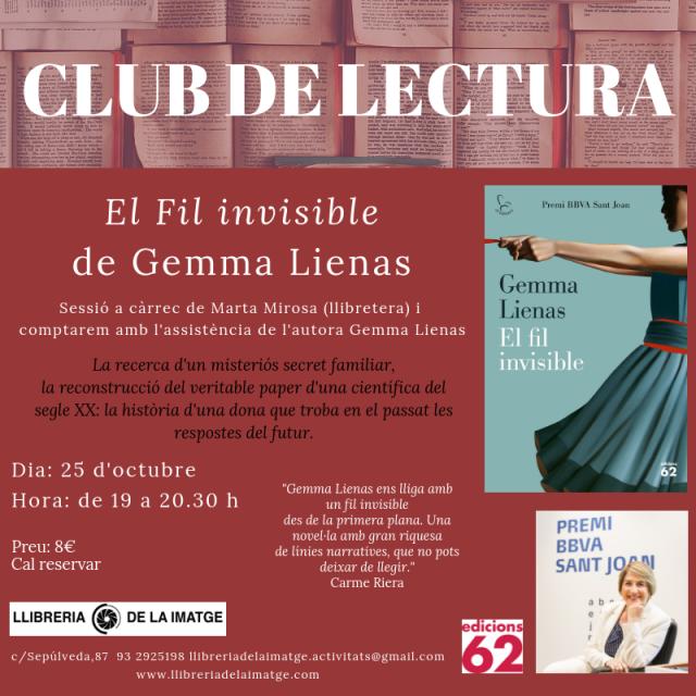 CLUB DE LECTURA Gemma Lienas_xarxes