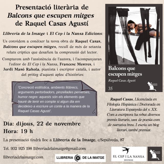 Cartell_Presentació del llibre _Raquel Casas