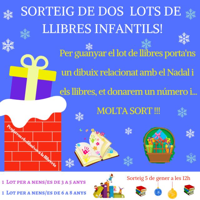 XARXES SORTEIG DE 2 LOTS DE LLIBRESINFANTILS!