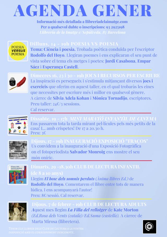 cartell activitats gener 2019