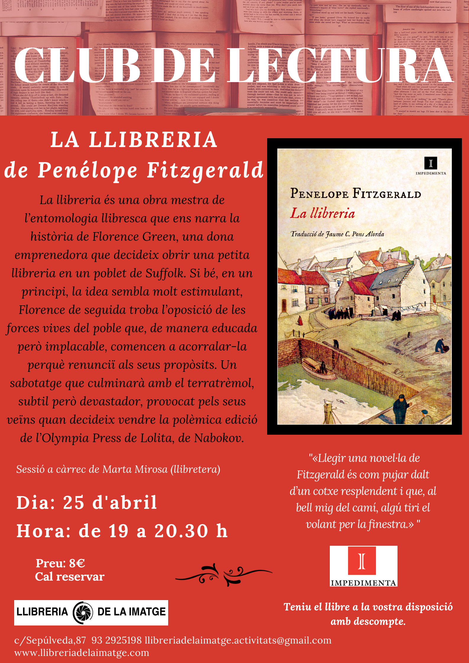 CLUB DE LECTURA LA LLIBRERIA