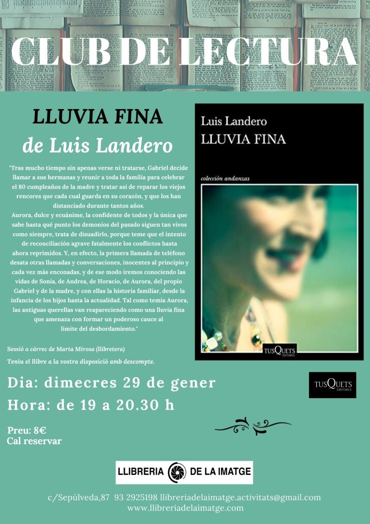 CLUB DE LECTURA LLUVIA FINA